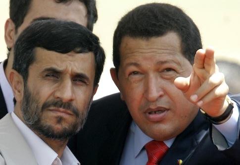 Mahmoud Ahmadinejad et Hugo Chàvez