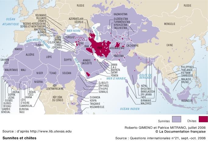 Géographie des chiites