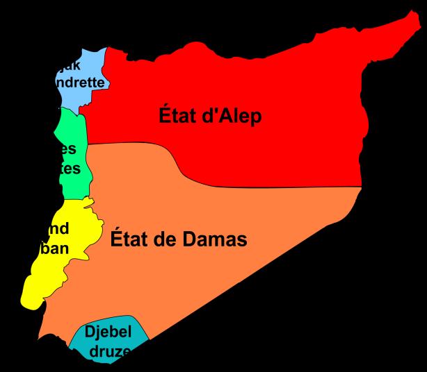 le Liban et la Syrie sous la mandat français