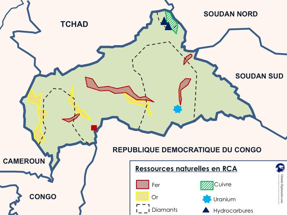 carte des ressources en RCA