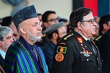 Le président de l'Afghanistan de 2002 à 2014 Hamid Karzai