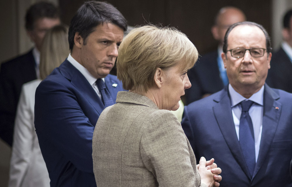 Matteo-Renzi-Angela-Merkel-Francois-Hollande